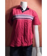 Cherokee Washed Polo M Red 100% cotton M - $6.99