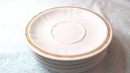 "Five Americana Hearthside Japan Stoneware Saucers Handpainted 6"" Saucers - $24.99"