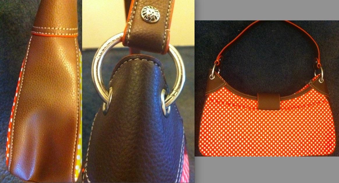 ANNE KLEIN red white POLKA DOT BAG mod '60s Zooey Deschanel-esque purse RARE NEW