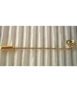 Vintage Faceted Clear-Pale Blue Rhinestone Lapel Brooch Stickpin Gold-to... - $7.99