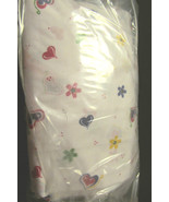 Handmade Crib Fitted  Sheet 100% cotton - White With Hearts - $8.00