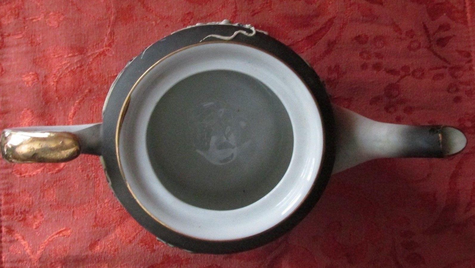 Japanese Dragonware Tea Pot w/Flaming Pearl (Moruku China) Moriage