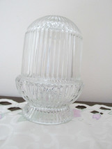 Homco Clear Glass Candle Holder - $10.99