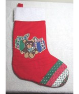 Handmade Christmas Stocking With Teddy Bear - $9.99