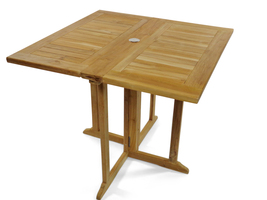 "Premium Grade A Teak 35"" Sq Barcelona DropLeaf Folding Table, LIST $1200,SALE! - $795.00"