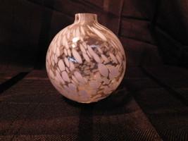 Beautiful Pottery Barn Oil Lamp Hand-Blown Art Glass, White - $7.99