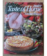 Taste of Home Annual Cooking Cookbook Recipes Hardcover 2007 - $6.99