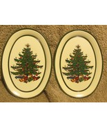Keller Charles Tiny Oval Tin dishes - Christmas Tree Design by Cuthrerts... - $6.99