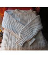 Roundstone Hand Knit Irish Wool Sweater Beautifully Detailed, Connemara ... - $60.00