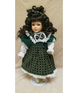 Porcelain Doll -  Girl With Green Dress - $14.99