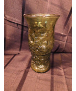 Vintage Crinkle Green Glass Floral Vase E. O. Brody Co. Cleveland Oh USA... - $9.99