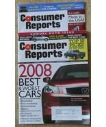 Consumer Reports Magazine 03/2008 and 04/2008 - $4.99