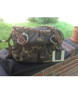 NWT   B. Makowsky Medium Camouflage Glove Leather Zip Satchel - $120.00