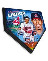 "Francisco Lindor Cleveland Indians - 11.5"" x 11.5"" Home Plate Plaque  - $40.95"