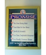 """The Colonel's Promise"" Framed Kentucky Fried Chicken Restaurant Poster ... - $55.13"