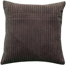 Pillow Decor - Cotton Corduroy Brown Throw Pillow 16x16 - $29.95