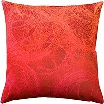Pillow Decor - Feather Swirl Red Throw Pillow 20x20 - $49.95