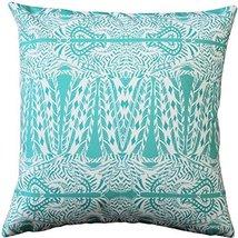 Pillow Decor - Partridge Stamp Turquoise Throw Pillow 20x20 - $39.95