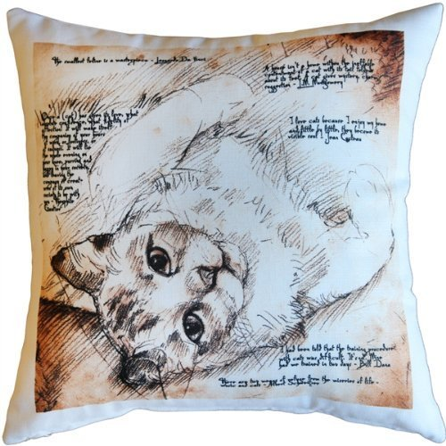 Pillow Decor - The Love of Cats 17x17 Throw Pillow for sale  USA