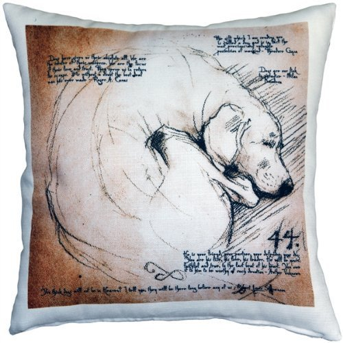 Pillow Decor - The Love of Dogs 17x17 Throw Pillow for sale  USA