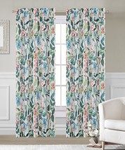 Urbanest 54-inch by 84-inch Flora Set of 2 Faux Linen Sheer Drapery Curtain Pane - $26.72
