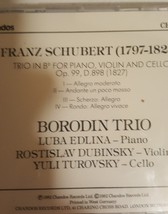 Schubert Piano Trio No 1 by Borodin Trio Cd image 2