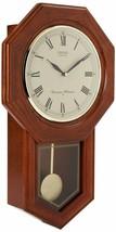 "Wooden Grandfather Style Wall Clock Pendulum Ornate Solid Oak 21"" x 13"" x 4"" - $360.00"