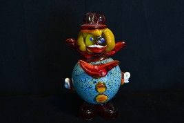 "Bulbous Body Murano Art Glass Clown 8"" - Damaged - $15.80"