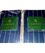 2pc Ralph Lauren Worth Avenue Blazer Stripe King Pillow Shams - $27.76