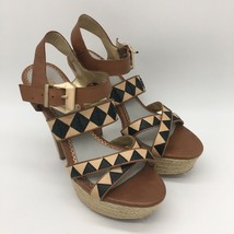 Circus by Sam Edelman Womens Brown  Checker Open Toe Heels Size,Size 8.0 - $24.75
