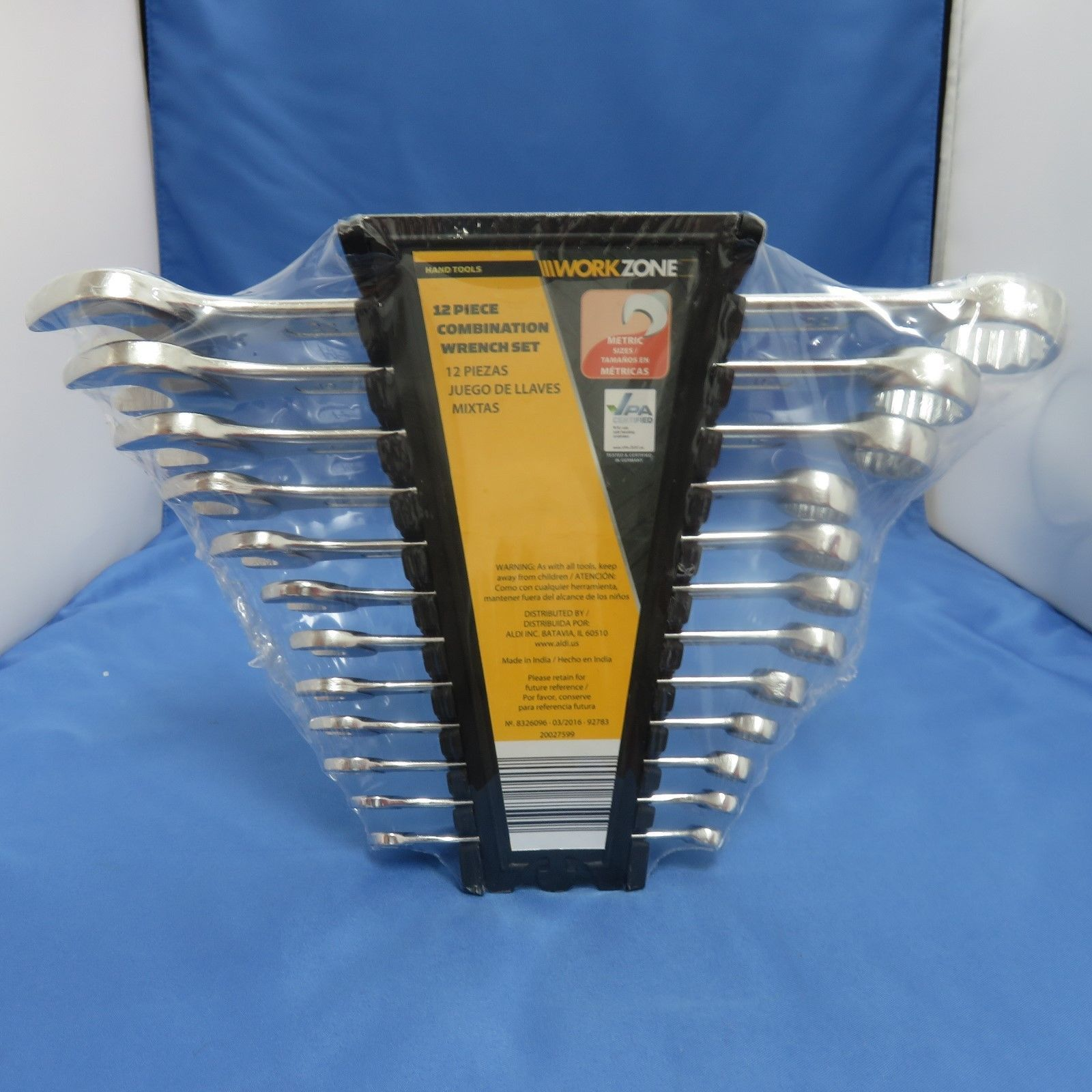 Zone 12 Piece Metric Combination Wrench Set Hand Tools - Wrench Sets