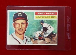 1956 Topps Set Break #312 - Andy Pafko EX-EXMINT (gray back) - $7.70