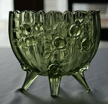 Fenton Glass Rose Colonial Green Oval Vase #9251 CG - $19.80