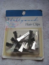 """12 Hollywood Silver Metal Hair Styling Clips Pins Secure Section 1 3/4"""" - $10.00"""