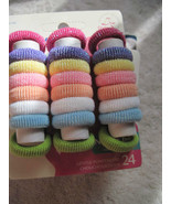 24 Goody Girls Gentle Fit Terry Fabric Hair Band Elastic Ponytail Holder... - $10.00