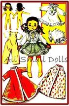 "Vintage Pattern for 8"" Cloth Doll & Wardrobe - $7.99"