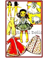 "Vintage Pattern for 8"" Cloth Doll & Wardrobe - $7.99"