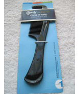 Goody Black Solid Plastic Super Detangling All Hair Comb Thru Start Deep... - $8.00