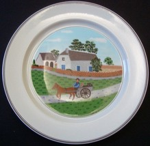 Villeroy & Boch Design Naif Plate, Farmer with Cart, Laplau 1 - $9.99
