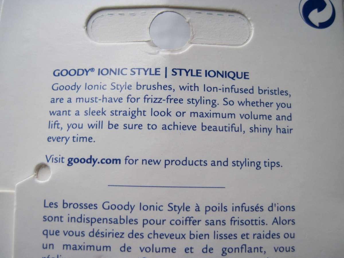 Purple & Blue Goody Ionic Smoothing Cushion Hair Brush Frizz Free Ion Bristles