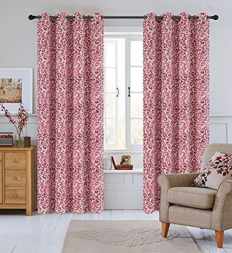 Urbanest 50-inch by 84-inch Set of 2 Jacquard Scroll Drapery Curtain Panel with