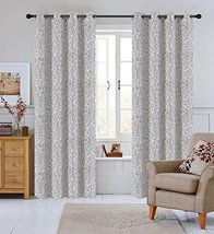 Urbanest 50-inch by 96-inch Set of 2 Jacquard Scroll Drapery Curtain Pan... - $29.69