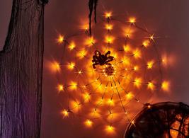 Vanthylit 3.25Ft Diameter 70Led Halloween Spider Web Lights Orange Light... - $34.14