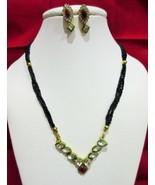 Indian Traditional  Kundan Pendant Bridal Mangalsutra Necklace Earrings Set - $11.87