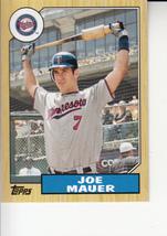 Joe Mauer 2012 Topps Update Mini Insert Card #TM-83 - $0.99