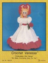 Vanessa, Td Creations Crochet Fashion Doll Clothes Pattern Booklet PRE-747 - $2.95