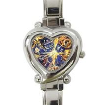 Ladies Heart Italian Charm Bracelet Watch Van G... - $11.99