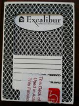 EXCALIBUR Hotel Casino Las Vegas Black Playing Cards, Used, Sealed - $4.95