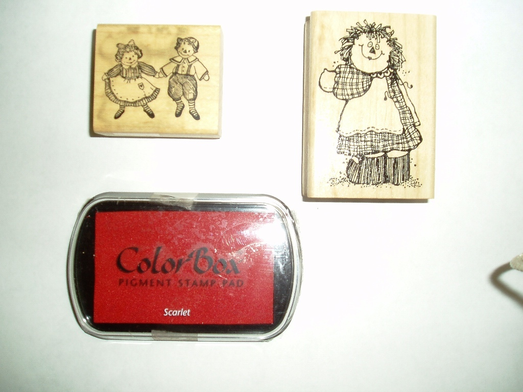 Collectible 1993 Raggedy Ann & Andy Stamps and Ink Pad!