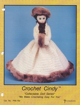 Cindy, Td Creations Crochet Fashion Doll Clothes Pattern Booklet PRE-752 - $3.95
